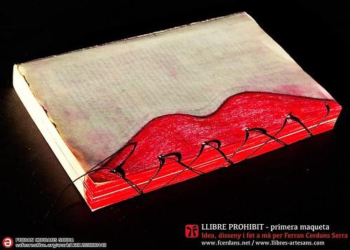 Llibre prohibit; llibre d'artista de Ferran Cerdans Serra, 2015.