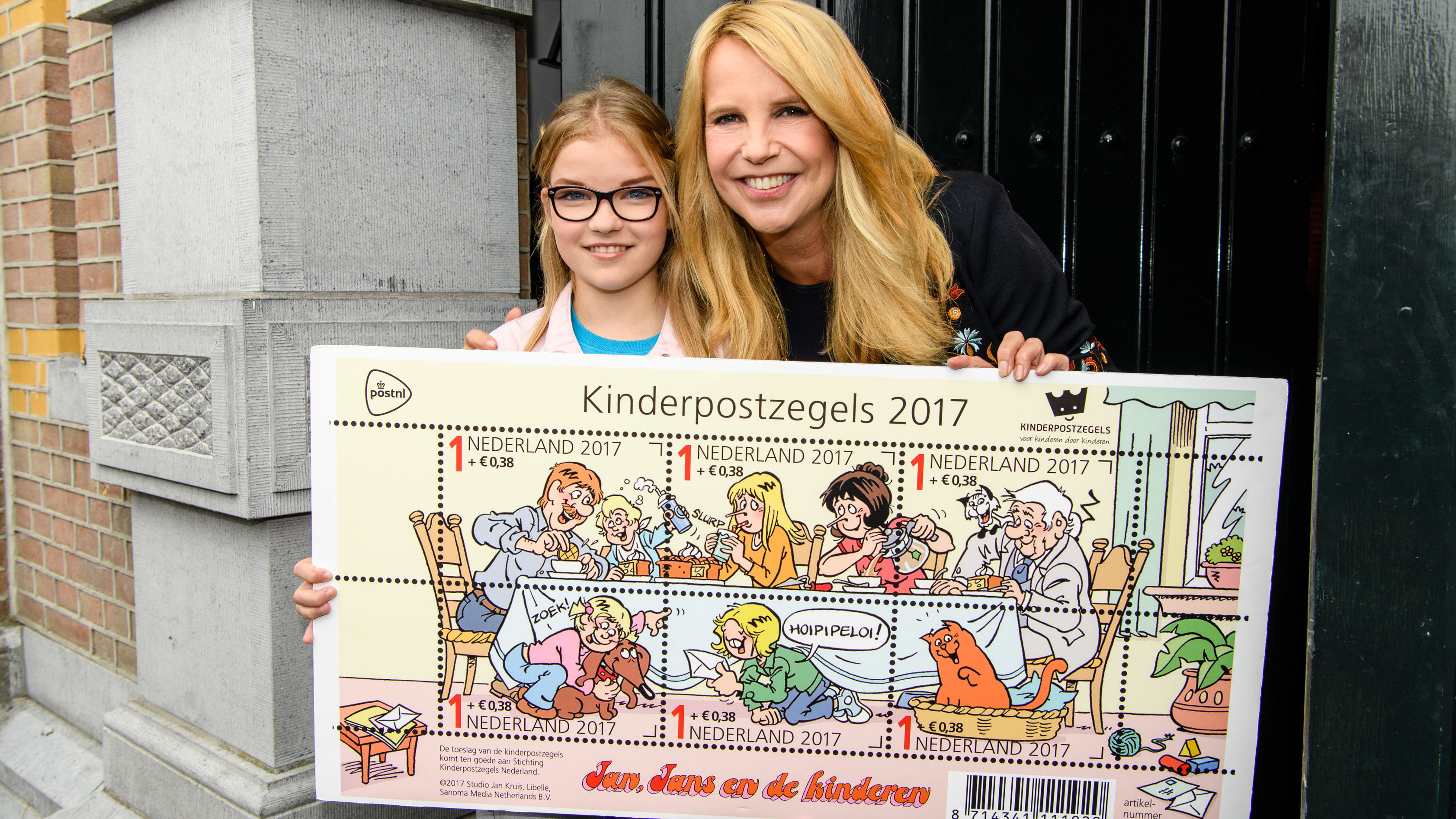 Dutch actress Linda de Mol helps to launch the 2017 Kinderpostzegels campaign. Photo taken on September 26, 2017.