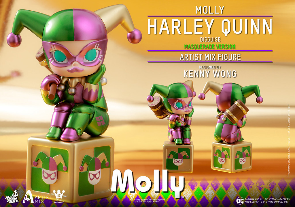 Hot Toys – AMC027 –【Molly (偽裝哈莉·奎茵) 化妝舞會版】Molly (Harley Quinn Disguise) Masquerade Version Artist Mix Figure Designed by Kenny Wong