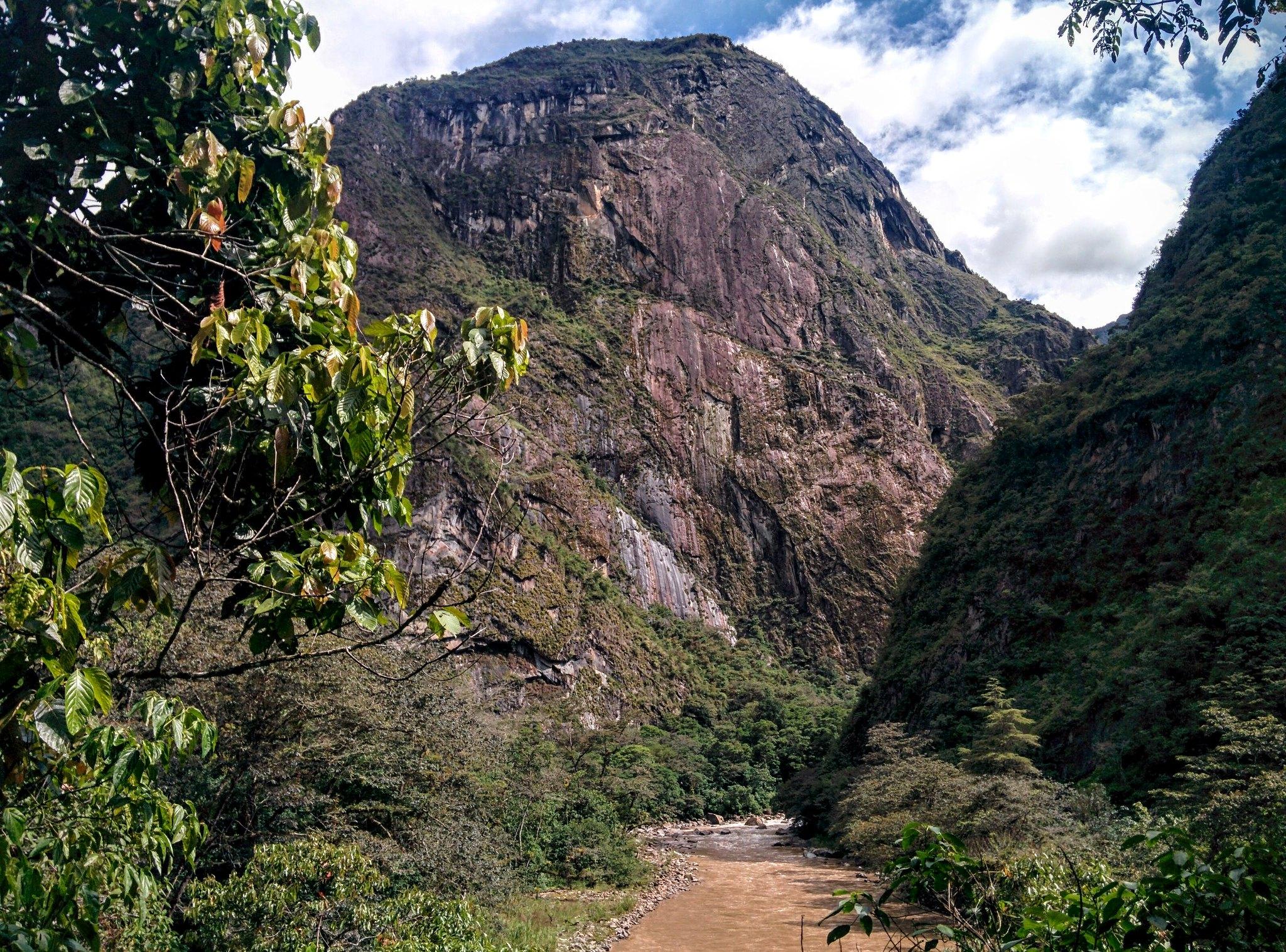 Machu Picchu mountain towering above us