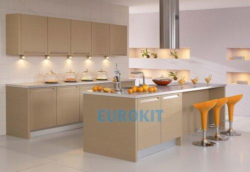 Tủ bếp gỗ Laminate thiết kế đơn giản mà đẹp