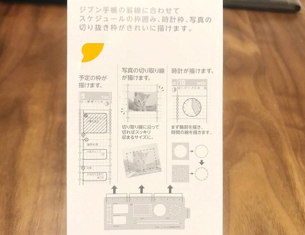 ジブン手帳テンプレートプラン説明書き