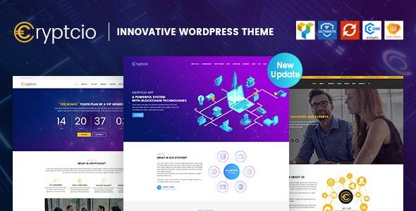Cryptcio v1.4 – Innovative WordPress Theme