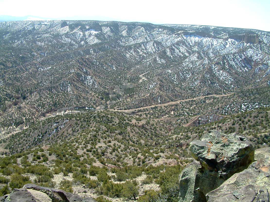 Site of the Battle of Embudo Pass in New Mexico, January 1847. Photo taken on March 22, 2010.