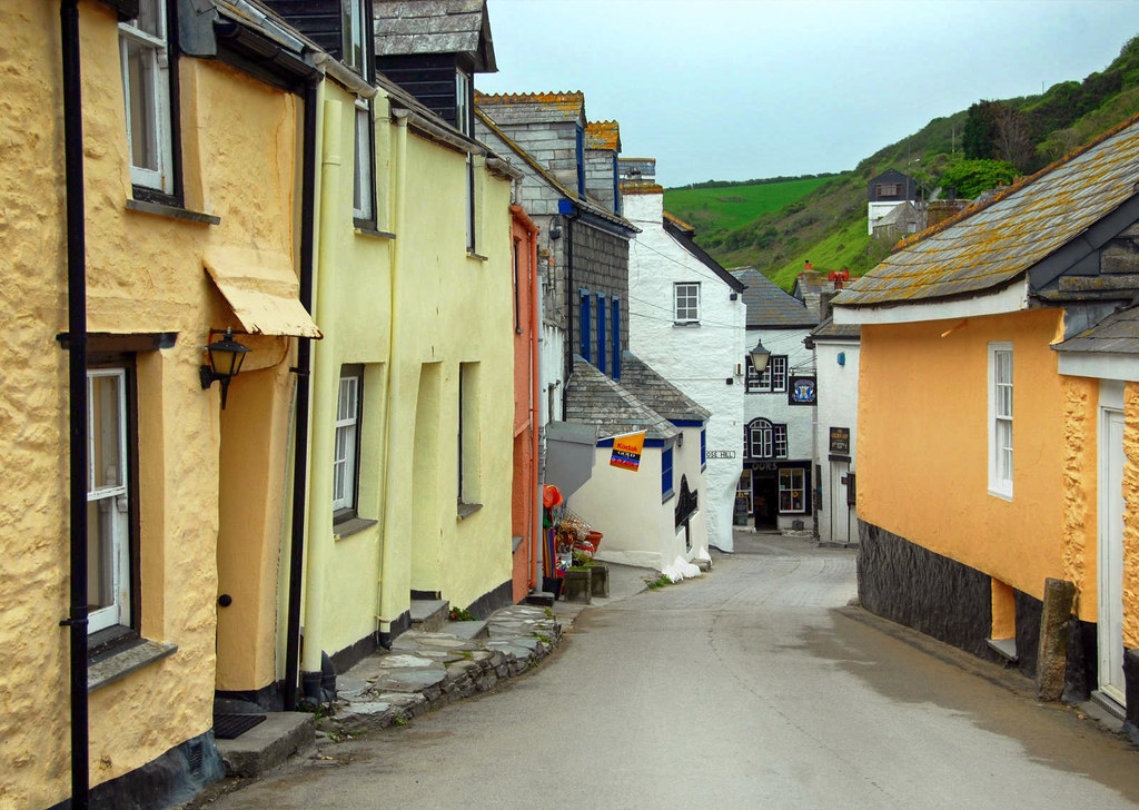 Fore Street in Port Isaac, Cornwall. Credit Bryan Ledgard