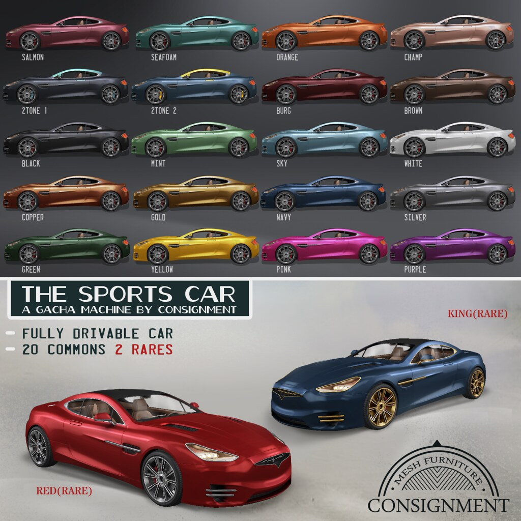 Consignment for Arcade – Sports car