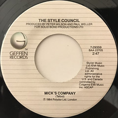 THE STYLE COUNCIL:MY EVER CHANGING MOODS(LABEL SIDE-B)
