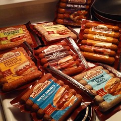 9/6/2018 Never Go #Shopping When You're #Hangry! @johnsonville Brats on Sale *2 for $5* ... <(°¿°)> Yep, My #Fat Ass got *all* 8 Varieties!  #AJWoodson #SpringfieldIL #Johnsonville #MadeInTheUSA #FatBoyApproved #ShopnSave #TheStruggleIsReal #HungerGames #