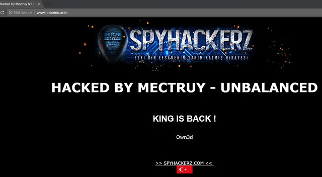 HNBUMU website Hacked
