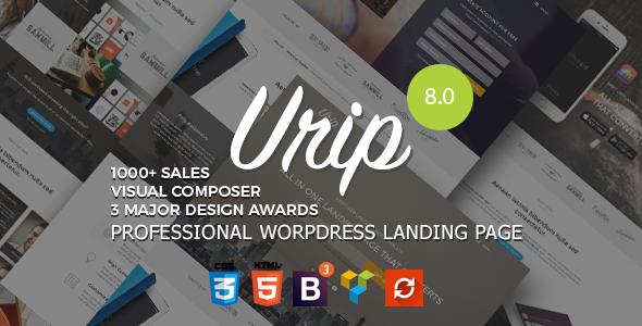 Urip v8.2.3 – Professional WordPress Landing Page