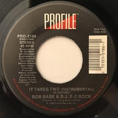 ROB BASE & D.J. E-Z ROCK:IT TAKES TWO(LABEL SIDE-B)