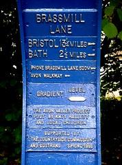 SUstrans sign on Bath-Bristol path