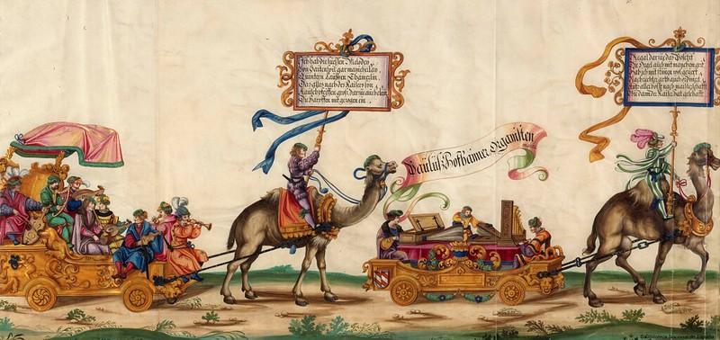 Triunfo del Emperador Maximiliano I, Rey de Hungría, Dalmacia y Croacia, Archiduque de Austria, XVI-XVII, f. 16, Biblioteca Nacional de España