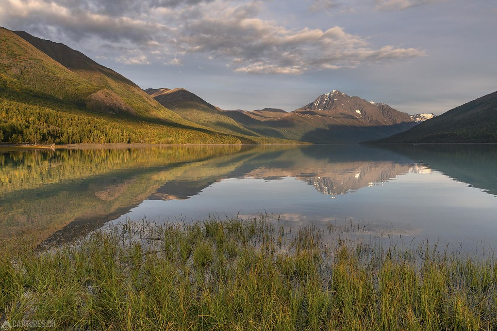 Eklutna Lake in the evening - Alaska