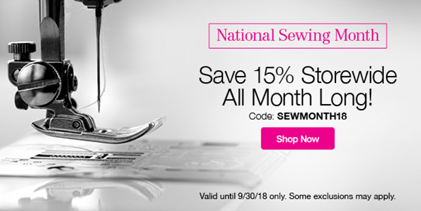 National Sewing Month Coupon
