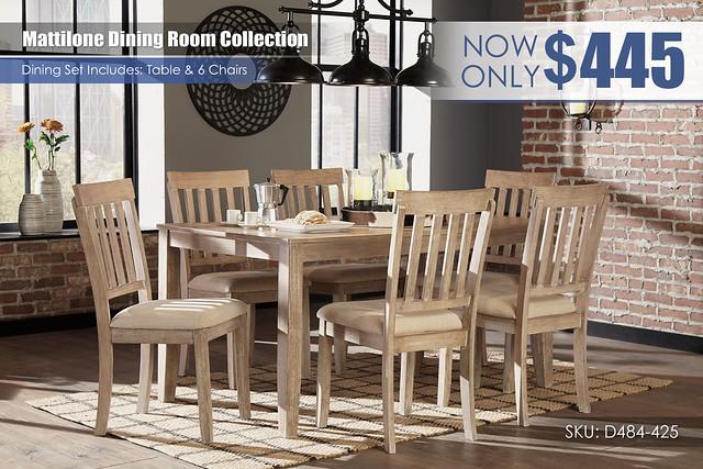 Mattilone Dining Set_D484-425-R40079