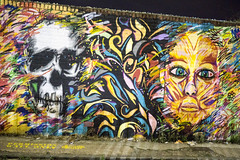 Skull and Face vibrant graffiti