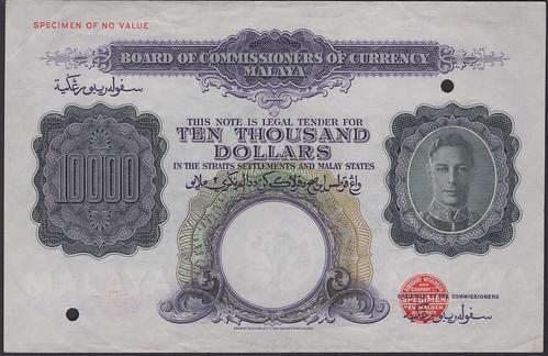 DNW - Malaya 10,000 dollars