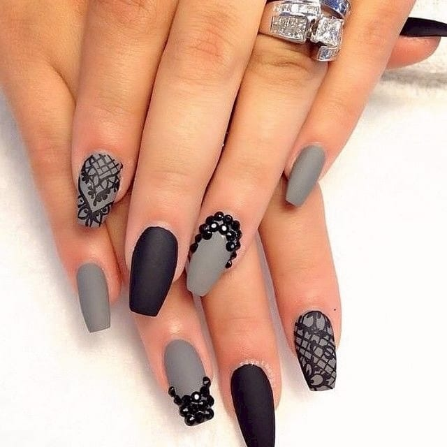 Gray and black both look great with a matte top coat.