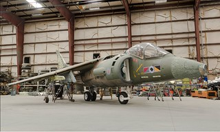 Harrier GR.5 in restoration (photo: John Bezosky Jr)