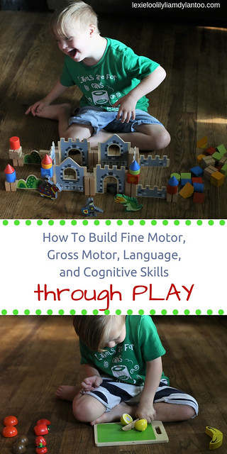 How To Build Fine Motor, Gross Motor, Language, and Cognitive Skills Through Play (Featuring Cubbie Lee Toys) #Play #specialneeds #Downsyndrome #kidsactivities #developmentalskills