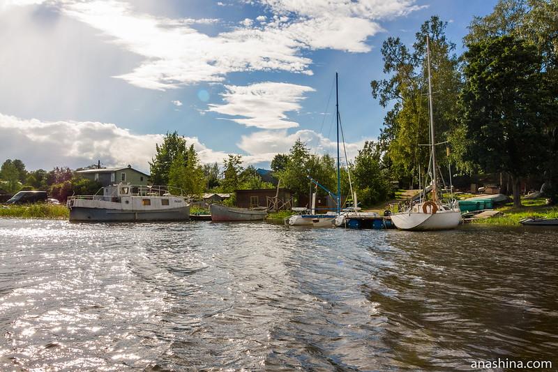 Пристань в Берёзово, залив Лехмалахти, Ладожское озеро