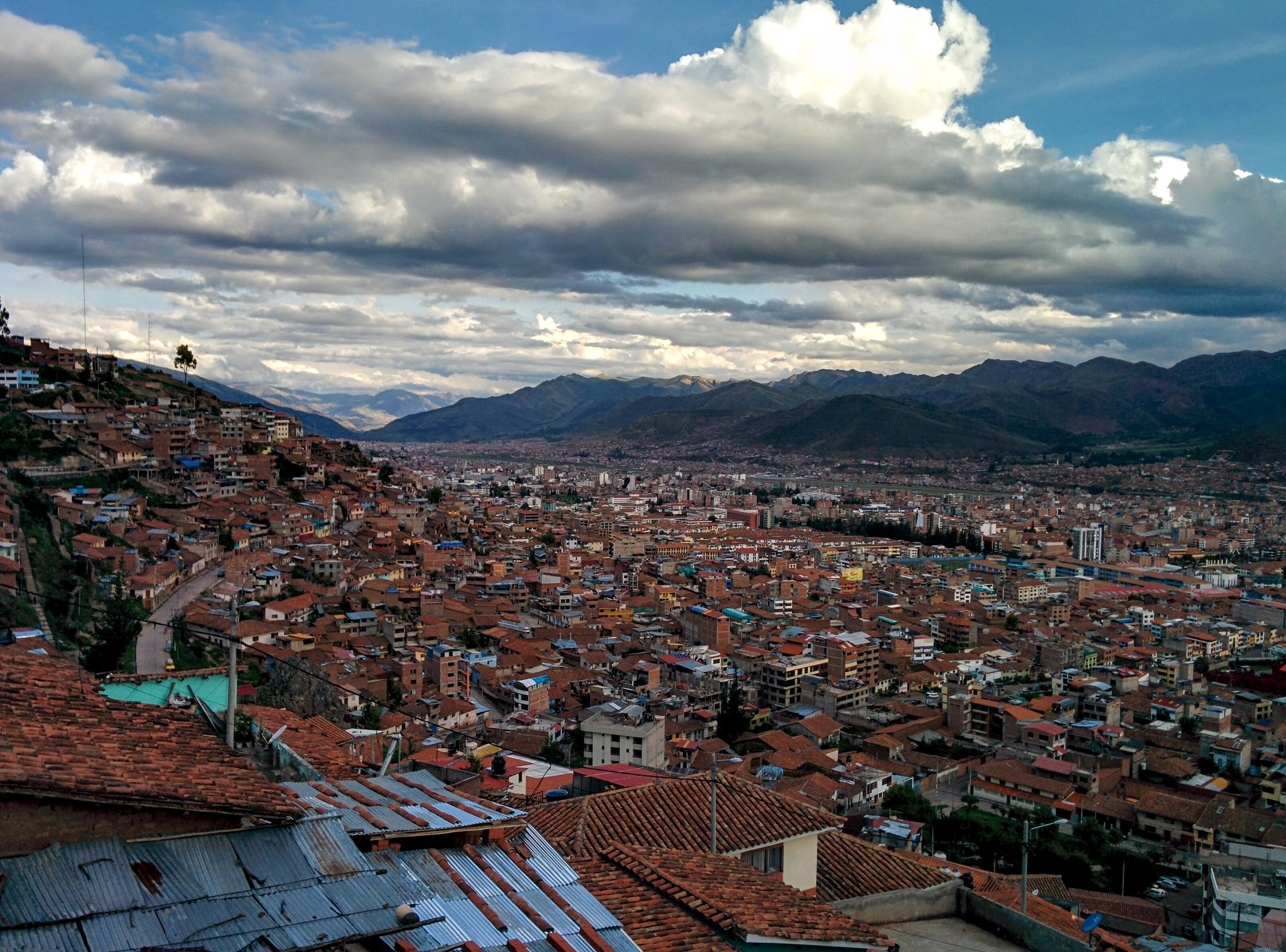 Cusco stretching into the valley