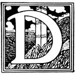 Letter D initial