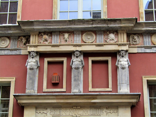 decorated facade in Ulica Długa in Gdansk