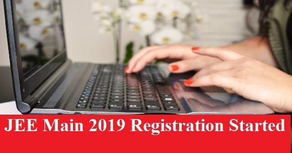 jee main registration started