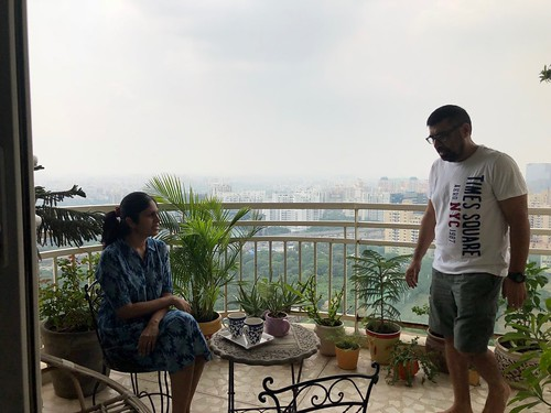 Home Sweet Home - Divya Babu's 30th Floor Balcony, DLF Park Place