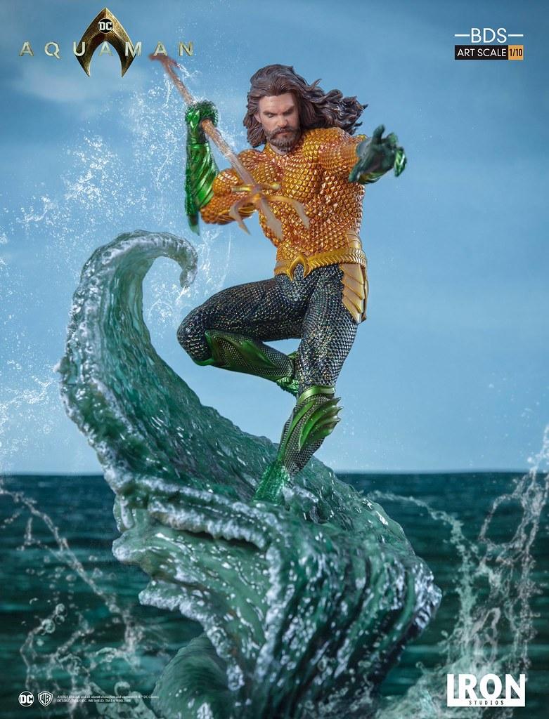 乘著海浪霸氣現身的海王!! Iron Studios《水行俠》水行俠 Aquaman 1/10 比例決鬥場景雕像作品