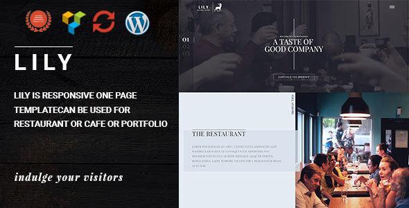 Lily v2.5 – One Page Restaurant WordPress Theme