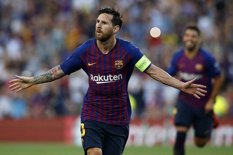 Lionel Messi幫助巴薩挺進歐冠8強,也不忘盛讚C羅的演出。(達志影像資料照)