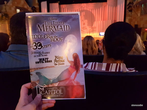 Little Mermaid musical at Capitol Theatre