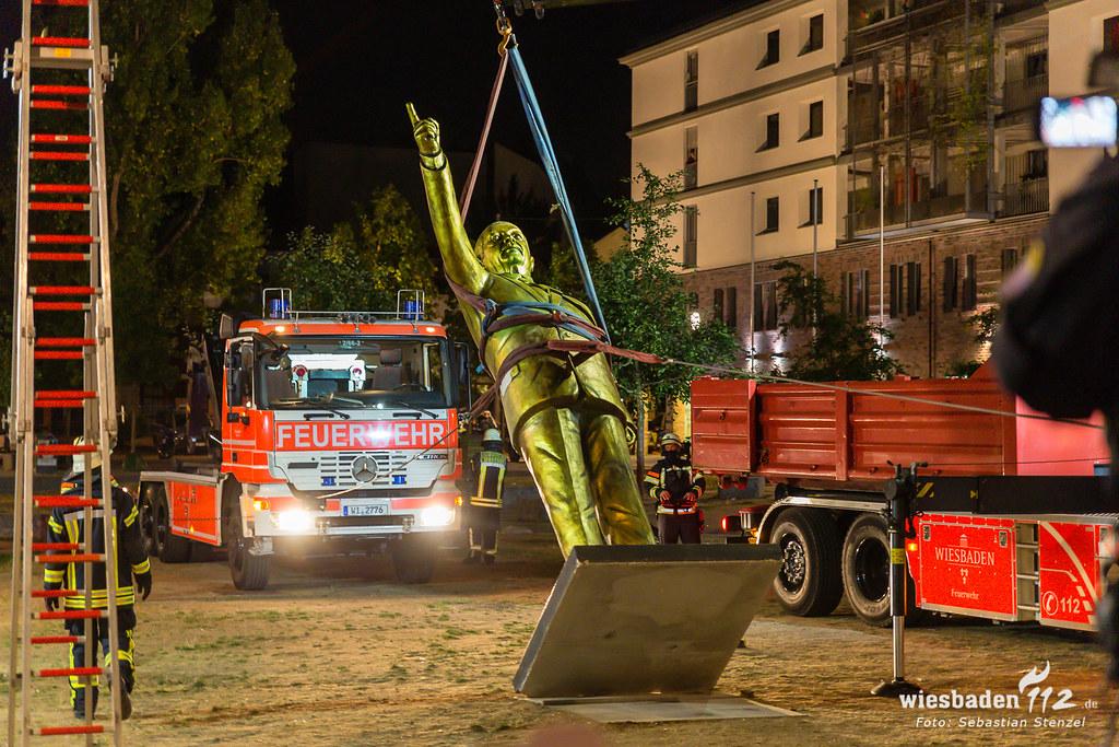 Erdogan-Statue Wiesbaden 28.08.18
