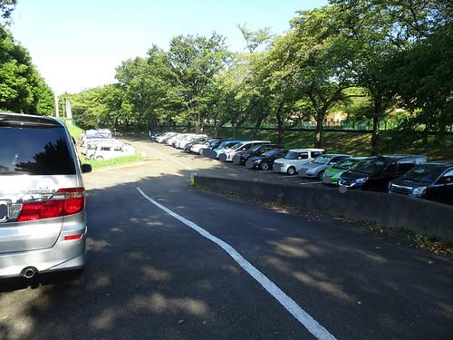 富士見ガーデンビーチの駐車場