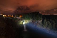 Snoqualmie at night