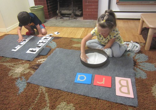 farm animal matching & letter work