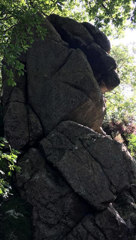 Dewerstone Rock huge outcrop