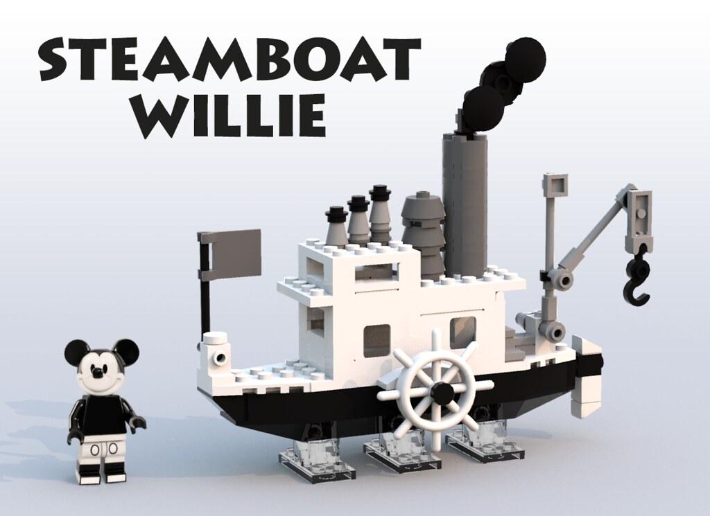 拜託,讓它正式商品化吧~~~ szabomate90 樂高MOC 作品【汽船威力號】Steamboat Willie