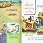 Wed, 2018-04-04 09:03 - A page from this mid-fifties guide to Caterpillar earthmoving equipment. Based in Illinois, USA, this brochure is overprinted for a Newfoundland, Canada, supplier. Here can be seen the Lowbowl type.