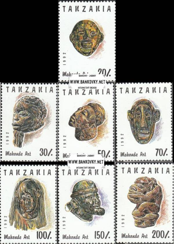 Známky Tanzánia 1992 Umenie makonde, razítkovaná séria