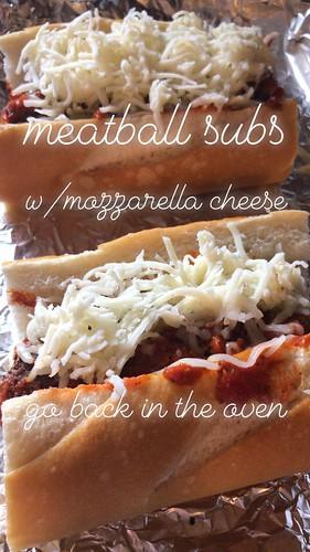 vegetarian meatball subs #eatyourveggies #sublove #nomeatmeatballs
