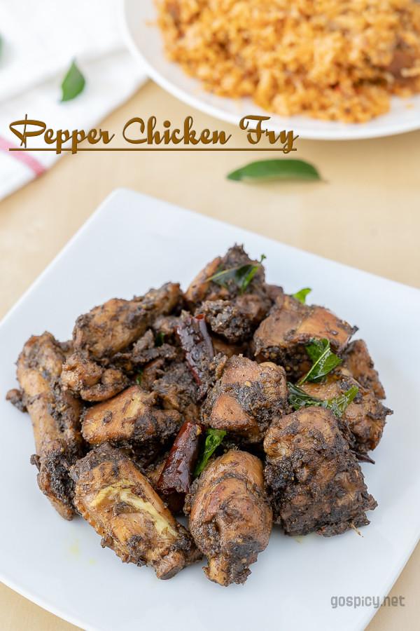 Pepper Chicken Fry Recipe by GoSpicy.net