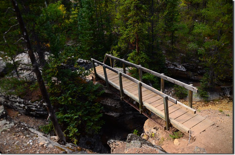 Cross the Souh Fork of Lake Creek using this great bridge