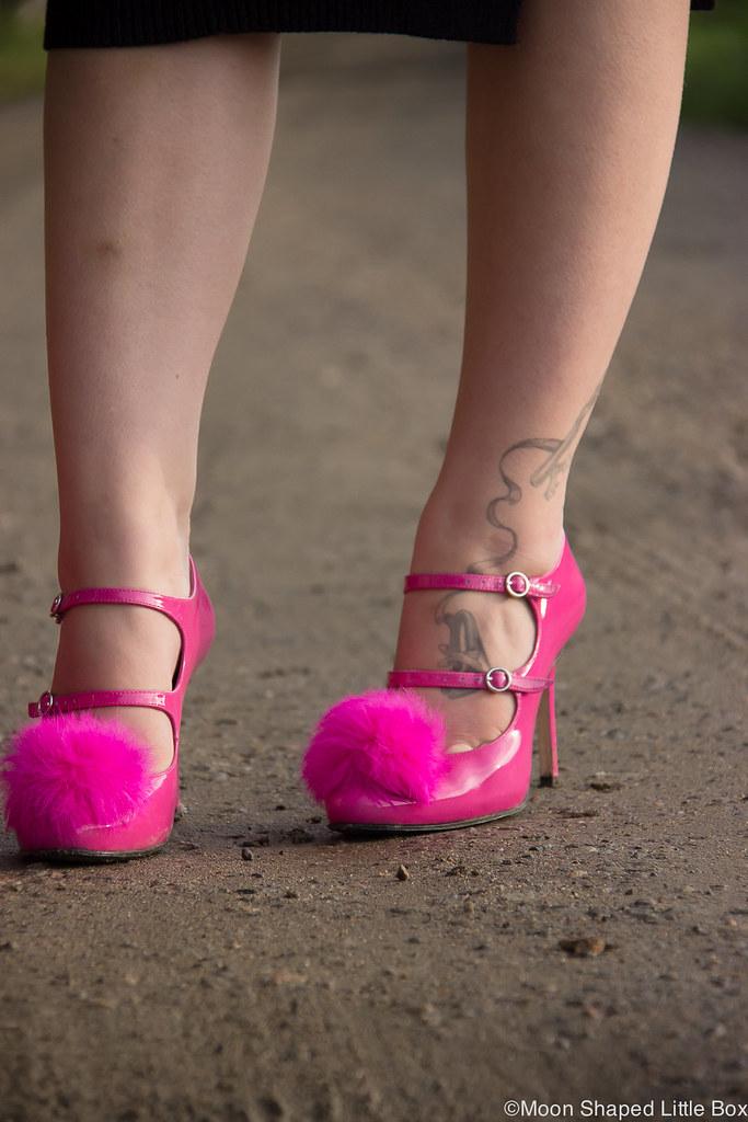 Pom pom heels, finnish design, Minna Parikka, Minna Parikan kengät, pinkit korkokengät