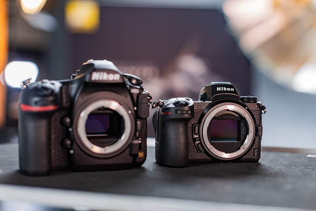 D850 next to Z7