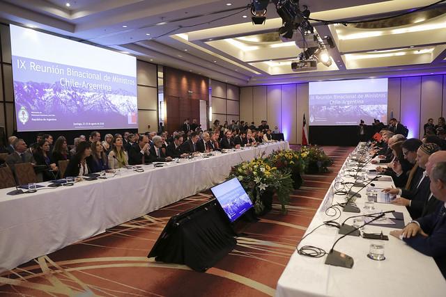 IX Reunión Binacional de Ministros Chile-Argentina. 22.08.18