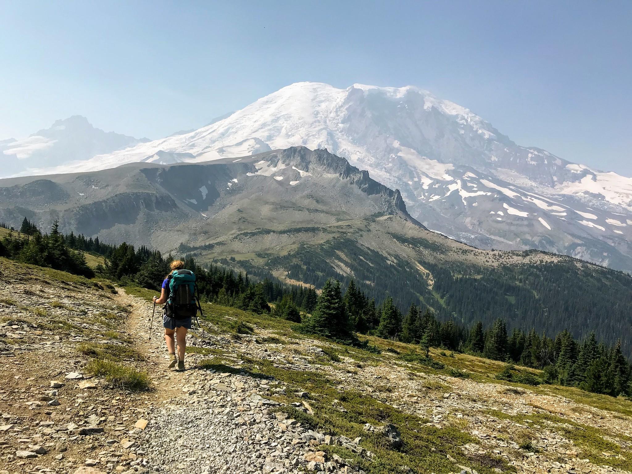 Tatyanna descending towards Granite Creek Camp